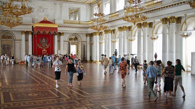 Les musées russes sont en plein boom numérique. En février, l'Ermitage se dotait d'une application gratuite pour iPhone. Crédit photo: Lori / Legion Media