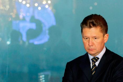 Si l'on démontre la culpabilité de Gazprom, l'entreprise devrait subir une amende s'élevant à 4,5 milliards d'euros. Sur la photo: Alexeï Miller, PDG de Gazprom. Crédit: AP