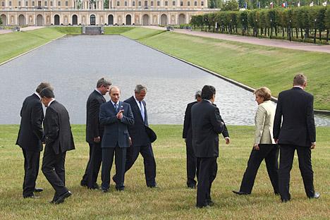 Le concept de sécurité énergétique adopté lors du sommet de Saint-Pétersbourg en 2006 supposait que tous les participants du G8 devraient tourner autour de la Russie. Crédit photo: Kommersant Photo
