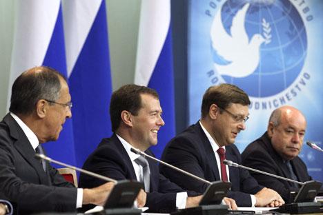 «La Russie garde actuellement une relative parité par rapport à ses rivaux géopolitiques en terme de «puissance dure». Crédits photo: RIA Novosti / Ekaterina Shtukina