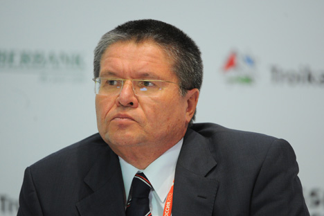 Actuellement, le principal repère de la politique de la Banque centrale de Russie en matière de taux de change est le panier bi-monétaire (0,45 € et  0,55 $). Sur la photo, le premier vice-président de la BCR Alexeï Oulioukaïev. Crédit: Itar-Tass