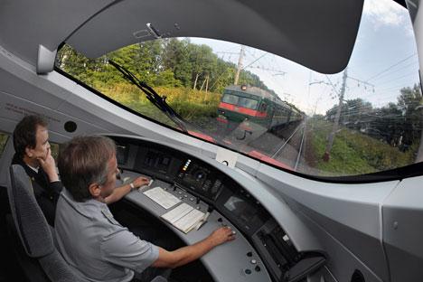 Les rames à grande vitesse n'ont pas encore de voies séparées. Crédit photo: RIA Novosti