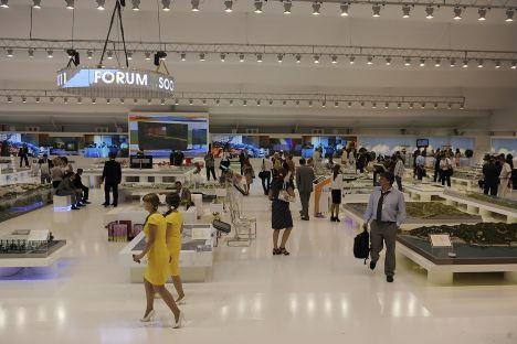 Outre les Russes, le Forum de Sotchi a attiré environ 500 participants venus de 38 pays. Source: service de presse