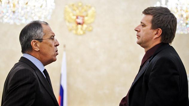 Ministre des Affaires étrangères, Sergueï Lavrov et Alexandre Konovalov, ministre de la Justice. Crédit photo: Itar TASS