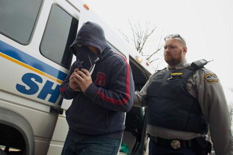 Delisle est en garde à vue depuis son arrestation en janvier 2012. Crédit: Reuters/Vostock Photo