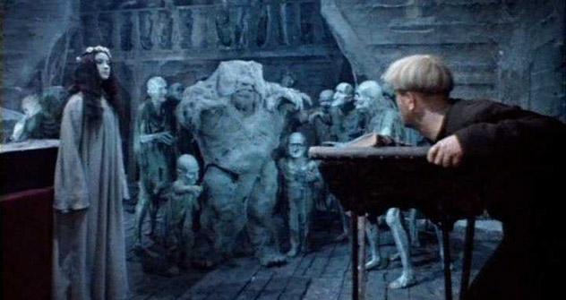 L'adaptation à l'écran de la nouvelle de Nikolaï Gogol «Viï» en 1967 demeure jusqu'à présent le seul exemple de film d'horreur soviétique. Source: kinopoisk.ru