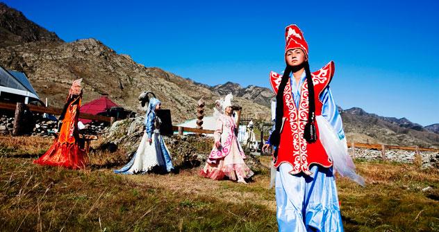 La république de l'Altaï compte 200 000 habitants, pour l'essentiel vivant chichement de l'élevage dans un cadre montagneux ou semi désertique. Crédit photo: Vera Undritz