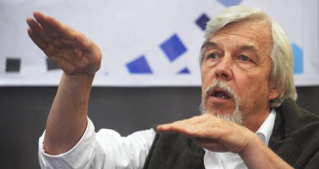 Rolf-Dieter Heuer: «Le CERN et la Russie ont une longue histoire de travail en commun». Crédit: AFP/East News