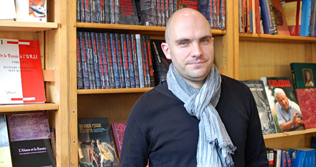 François Deweer, directeur de la Librairie du Globe. Crédit: Maria Tchobanov