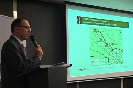 Christian Heurtebis, directeur projet Russie de Vinci Concession. Crédit: Maria Tchobanov