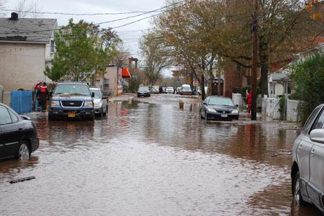 Les conséquences du le passage de l'ouragan Sandy. Crédit: Ilya Galak