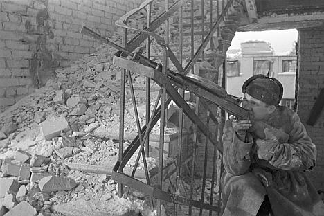 Le 19 novembre dernier, pour les 70 ans du début de la bataille de Stalingrad. Crédit: Itar-Tass