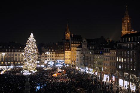 La tradition du marché de Noël de Strasbourg, «Christkindelmärik» en alsacien, remonte à 1570. Crédit: AFP (archives)