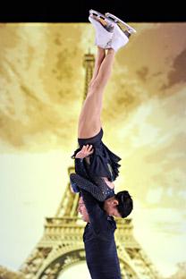 Yuko Kawaguchi et Alexander Smirnov lors du Grand Prix à Paris. Crédit: AFP/East News