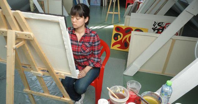 Les artistes peuvent rester un ou deux mois dans la résidence pour se consacrer entièrement à leur projet Crédit: ART-residences Penza