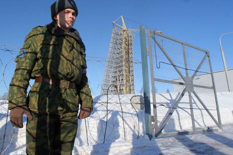 Le radar Daryal, construit dans la région de Gabala en Azerbaïdjan. Crédit : Kommersant Photo