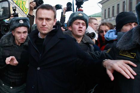 L'ancien blogueur anti-corruption Alexeï Navalny est soupçonné aujourd'hui d'avoir détourné et blanchi 55 millions de roubles (1,37 millions d'euros). Crédit : Reuters/Vostock-Photo