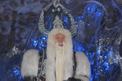 Tchys Khan est un personnage adapté d'une vieille légende locale sur le Taureau-Hiver, symbolisant le froid glacial. Crédit photo : Semen Kvacha