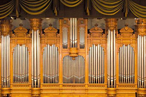 L'orgue de la Grande salle du Conservatoire de Moscou a été créé en 1899 par la société parisienne A. Cavaillé-Coll. Source: service de presse