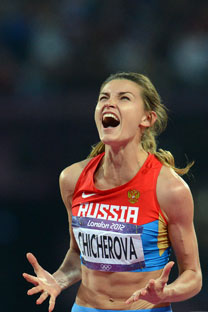 La sauteuse à la perche Anna Tchitcherova. Crédit : Itar-Tass