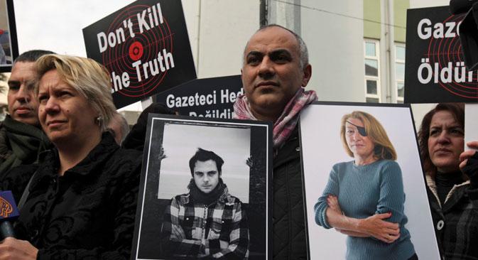 Selon le PEC, ces cinq dernières années dans le monde, deux journalistes ont été tués chaque semaine. Crédit : AP