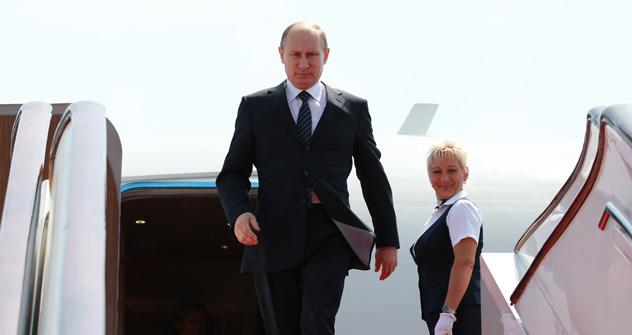 Poutine devrait effectuer quatre visites à l'étranger d'ici fin 2012. Crédit: Photoshot/Vostock-Photo