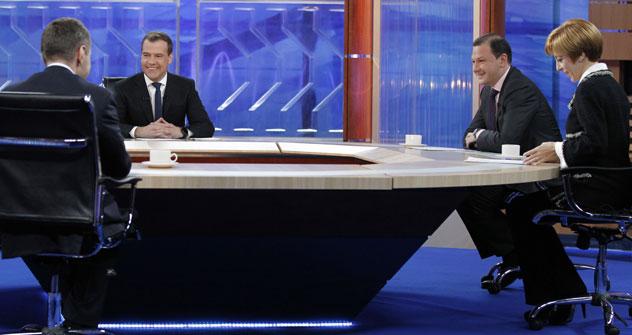 L'interview portait sur des questions nationales: en particulier, la récente enquête anti-corruption très médiatisée au ministère de la Défense. Crédit: RIA Novosti