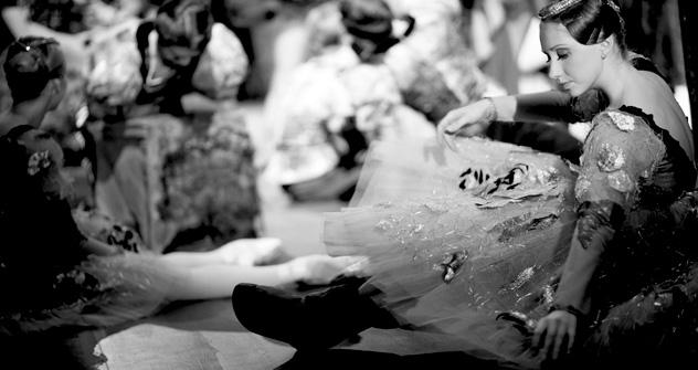 Un nombre important de photos est consacré aux coulisses du Bolchoï. Source: service de presse