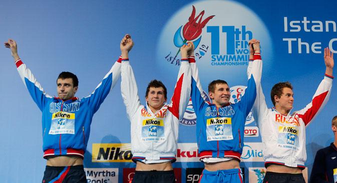 L'équipe russe de natation s'est classée cinquième au championnat du monde en petit bassin. Crédit : Reuters/Vostock-Photo