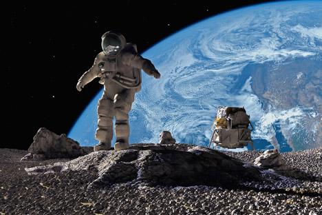 Les spécialistes russes ont déjà choisi les points d'alunissage de la sonde. Il y en a six, dont trois situés près du pôle nord de la Lune et encore trois près du pôle sud. Crédit : Getty Images / Fotobank