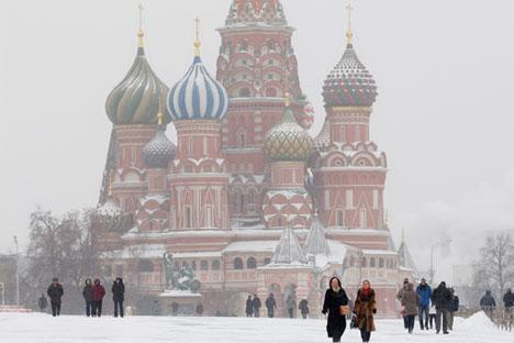La place Rouge en hiver. Crédit : GettyImages/Fotobank)