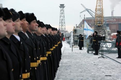 Le sous-marin Iouri Dolgorouky a été mis en service le 10 janvier. Crédit : Pavel Kononov/RIA Novosti