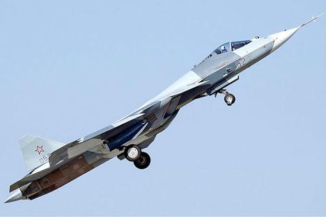 T-50 au salon aéronautique MAKS 2011. Crédit : Dmitry Zherdin