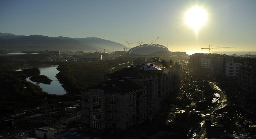 Un parc olympique sera construit sur la côte de la mer Noire, à Sotchi. Crédit : MikhaÏl Mordassov/focuspictures