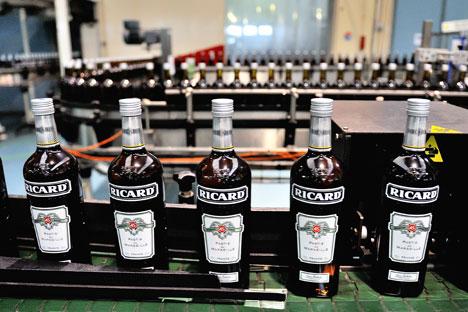 En 2012, Pernod-Ricard, leader du gin en Russie, a connu une baisse de 7,9%. Crédit : АFP/East News