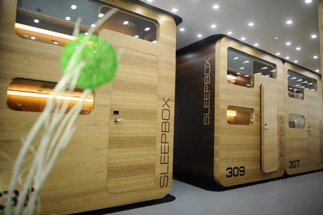 Les sleepbox sont réparties sur trois étages avec 10 à 15 pièces à chaque niveau. Crédit : Itar-Tass