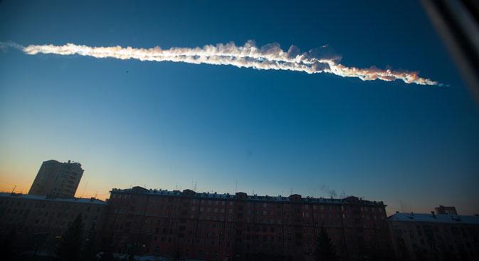 La puissance de l'explosion de la météorite avait atteint 0,5 mégatonnes TNT. Crédit : AP