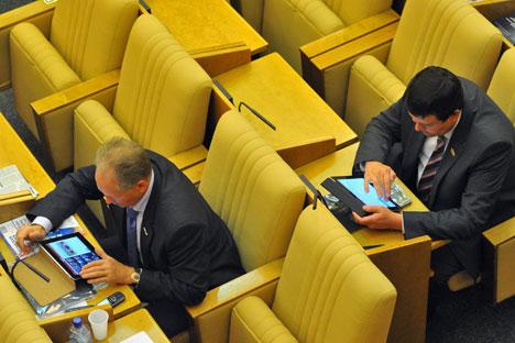 Aujourd'hui, le ministère russe des Affaires étrangères dispose de près de 70 comptes officiels sur Twitter. Crédit : Kommersant Photo