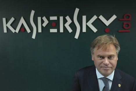"""Eugène Kaspersky : """"J'ai cherché à créer une sorte d'Interpol-internet depuis des années, et maintenant c'est enfin devenu une réalité"""". Crédit : Sergueï Guneev/RIA Novosti"""