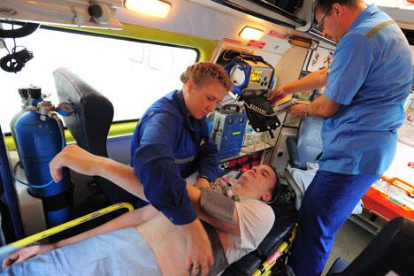 Comme auparavant, les ressortissants étrangers bénéficieront de soins d'urgence. Crédit : Itar-Tass