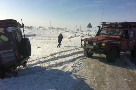 Je me suis réveillé juste avant de traverser la frontière vers le Kazakhstan, non loin de la ville de Tchéliabinsk au-dessus de laquelle a récemment explosé une météorite. Crédit : Artem Zagorodnov