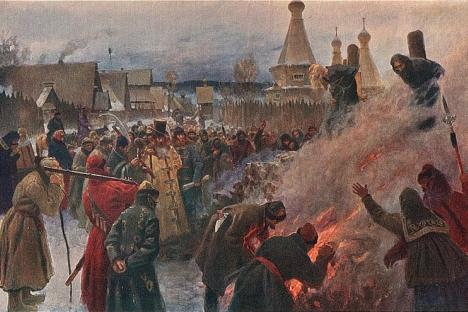 Immolation d'Avvakoum par Grigori Miassoedov (1897)