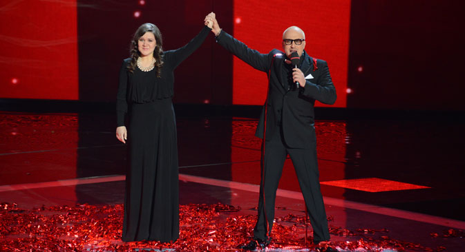 a Garipova, lauréate de l'adaptation russe de l'émission The Voice. Crédit photo : Ruislan Roshcupkhin / RIA Novosti