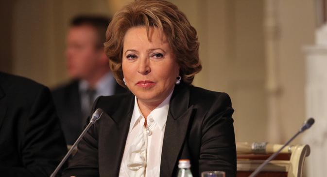 Valentina Matvienko est en tête du classement des 100 femmes les plus influentes de Russie. Crédit photo: ITAR-TASS