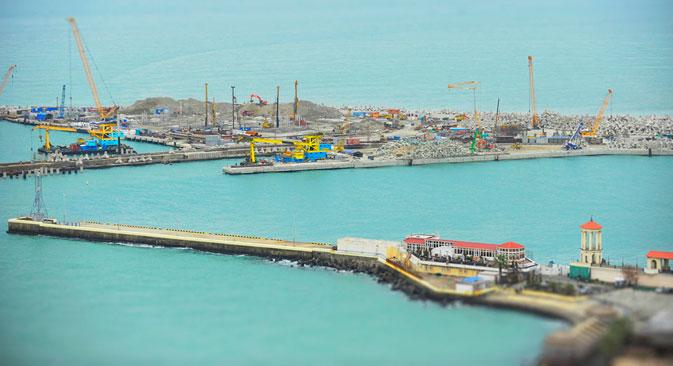 Le port de Sotchi. Crédit : Mikhaï Mordassov