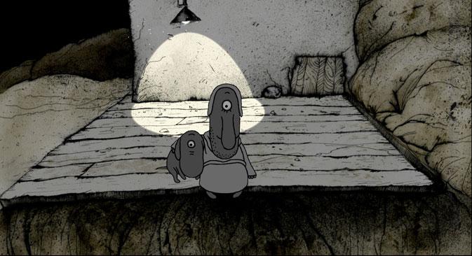 """""""Most v noujnouïou storonou"""" (Le Pont vers le bon côté) d'Ivan Maksimov, prix du meilleur scénario. Source : Festival du film d'animation"""