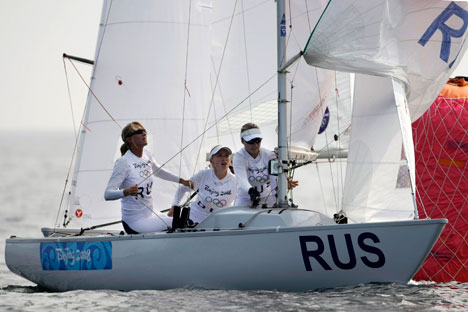 "Georgy Shaiduko: ""I might say that sailing is becoming increasingly popular in our country"". Source: AP"