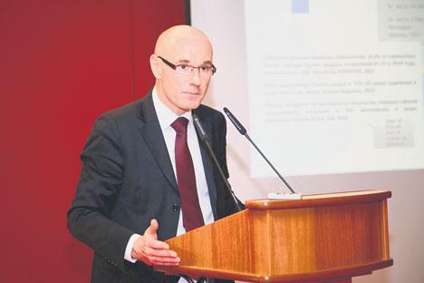 Serge Boscher, directeur général de l'AFII, en visite à Moscou. Source : Service de presse