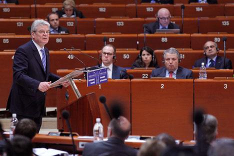 Sessão da Assembleia Parlamentar do Conselho da Europa foi aberta na segunda-feira (22) em Estrasburgo