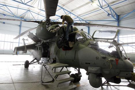 Les livraisons comprendraient les hélicoptères Mi-35 (sur la photo) et Mi-17. Crédit : Itar-Tass